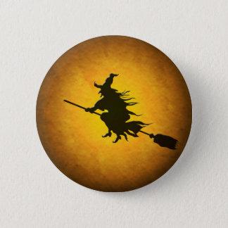 ハロウィンの飛んでいるな魔法使いボタン 缶バッジ