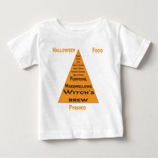 ハロウィンの食糧ピラミッド ベビーTシャツ