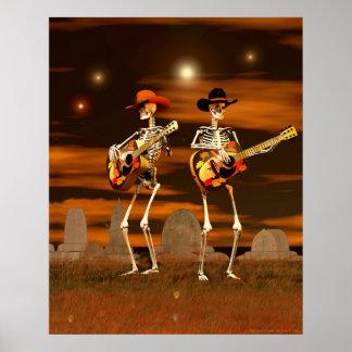 ハロウィンの骨組コンサート ポスター