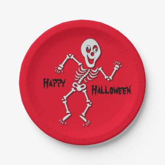 ハロウィンの骨組紙皿 ペーパープレート