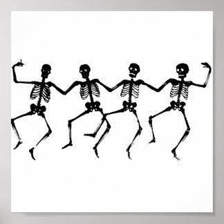 ハロウィンの骨組踊ること ポスター