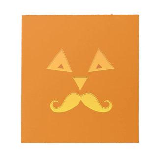 ハロウィンの髭のカボチャメモ帳 ノートパッド