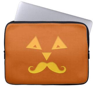 ハロウィンの髭のカボチャラップトップスリーブ ラップトップスリーブ