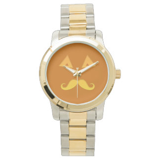 ハロウィンの髭のカボチャ腕時計 腕時計