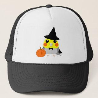 ハロウィンの魔法使いとしてオカメインコのCockatielのオウム キャップ