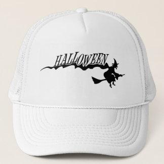 ハロウィンの魔法使いのハロウィンの飛行ベクトル キャップ