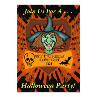 ハロウィンの魔法使いのパーティの招待状 カード
