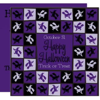 ハロウィンの魔法使いのモザイク カード