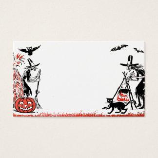 ハロウィンの魔法使いの名刺 名刺