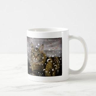 ハロウィンの魔法使い猫 コーヒーマグカップ