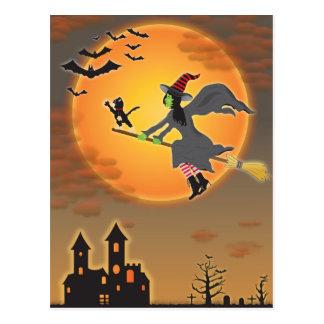 ハロウィンの魔法使い ポストカード