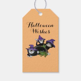 ハロウィンの魔法猫 ギフトタグ