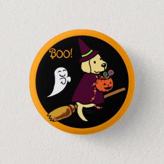 ハロウィンの黄色いラブラドールの漫画1 3.2CM 丸型バッジ