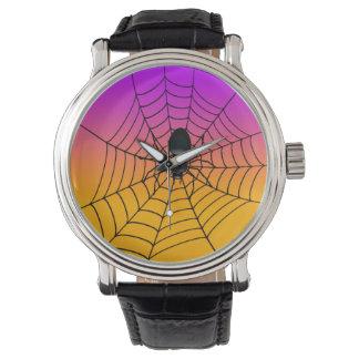 ハロウィンの黒いくもの腕時計 腕時計