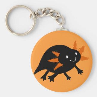 ハロウィンの黒いアホロートル キーホルダー