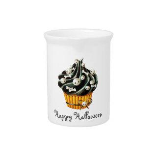 ハロウィンの黒いカップケーキ ピッチャー