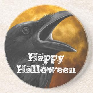ハロウィンの黒いカラス コースター