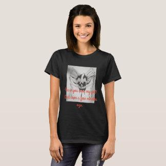 ハロウィンの黒いTシャツ、くものスカル Tシャツ