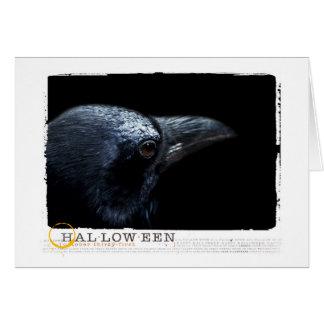 ハロウィンの黒のワタリガラス カード