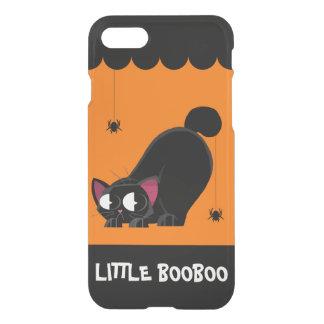 ハロウィンの黒猫およびくも iPhone 8/7 ケース