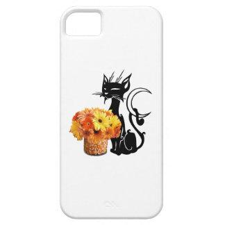 ハロウィンの黒猫およびキャンデートウモロコシ iPhone SE/5/5s ケース