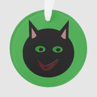 ハロウィンの黒猫のアクリルのオーナメント オーナメント