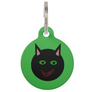 ハロウィンの黒猫のカスタムなドッグタッグ ペット ネームタグ