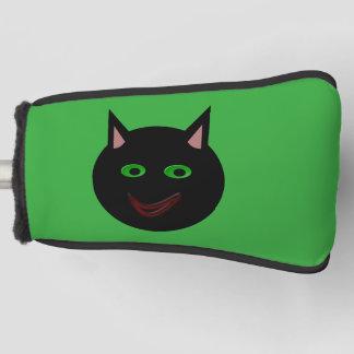 ハロウィンの黒猫のゴルフ運搬人カバー ゴルフヘッドカバー