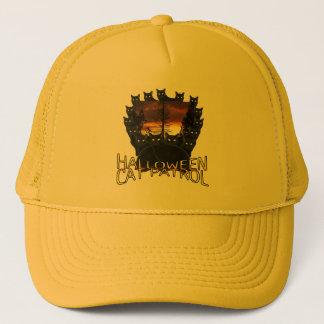 ハロウィンの黒猫のパトロールの帽子 キャップ