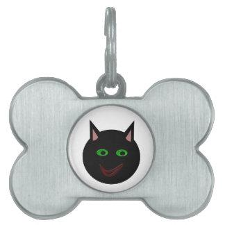 ハロウィンの黒猫のペットタグ ペットネームタグ