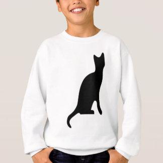 ハロウィンの黒猫の滑らかなシルエット スウェットシャツ
