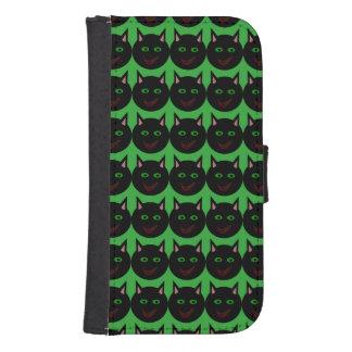 ハロウィンの黒猫の電話財布 ウォレットケース