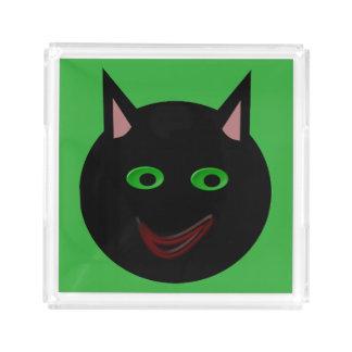 ハロウィンの黒猫の香水の皿 アクリルトレー