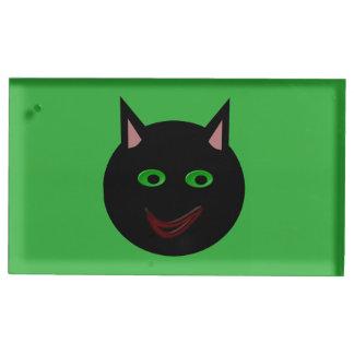 ハロウィンの黒猫のTablecardのホールダー テーブルカードホルダー
