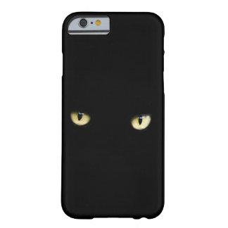ハロウィンの黒猫は電話箱を注目します BARELY THERE iPhone 6 ケース