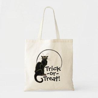 ハロウィンの黒猫及び月のトリックまたは御馳走バッグ- 1 トートバッグ