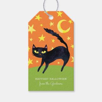 ハロウィンの黒猫 ギフトタグ