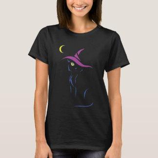 ハロウィンの黒猫 Tシャツ
