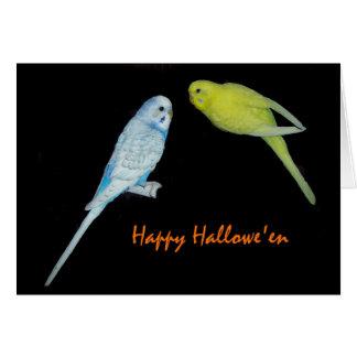ハロウィンのbudgiesカード カード