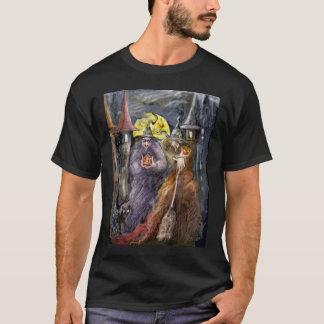 ハロウィンのwitchs (右の版)のTシャツ Tシャツ