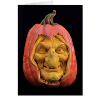 ハロウィンはジャックOの」-ランタンの魔法使いを彫刻しました カード