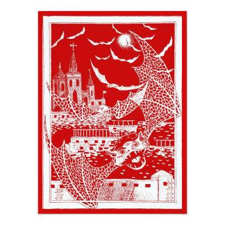ハロウィンは城の招待状を打ちます カード