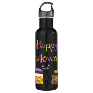 ハロウィンキャンデーの黒猫 ウォーターボトル