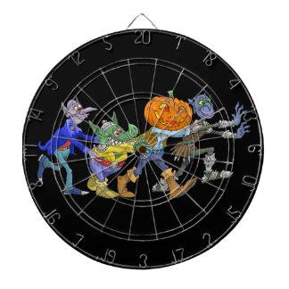 ハロウィンコンゴの漫画の絵 ダーツボード