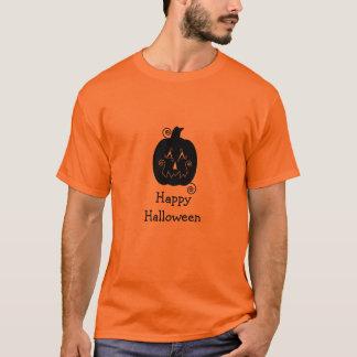 ハロウィンストライプなジャックO'LanternのTシャツ Tシャツ
