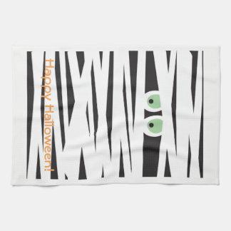 ハロウィンテーマタオル|のミイラのデザイン キッチンタオル