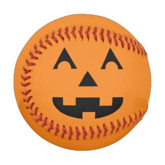 ハロウィンハロウィーンのカボチャのちょうちんのカボチャ顔 ベースボール