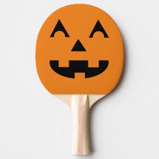 ハロウィンハロウィーンのカボチャのちょうちんのカボチャ顔 卓球ラケット