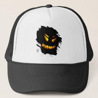 ハロウィンハロウィーンのカボチャのちょうちんは帽子に直面します キャップ