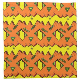 ハロウィンハロウィーンのカボチャのちょうちん及びくもの布のナプキン ナプキンクロス